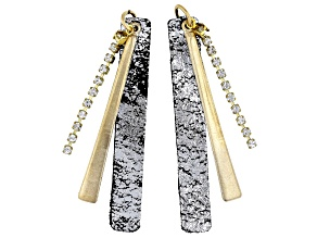 Vintaj Crystal Paddle Earring Component Set of 2 Designed by Candie Cooper