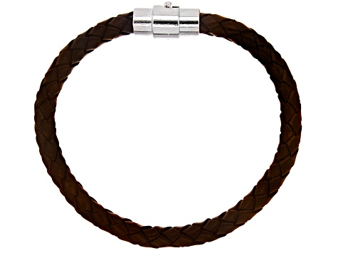 Leather Bracelet Foundation with Magnetic Clasp Set of 12 in Black and Brown