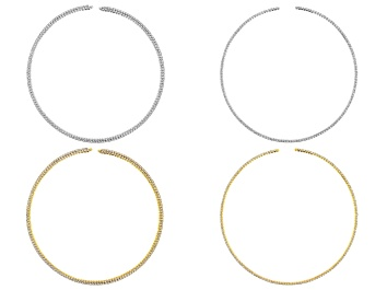 Picture of Crystal Necklace Foundation Set of 4 in 2 Sizes in Gold Tone & Silver Tone