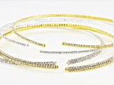 Crystal Necklace Foundation Set of 4 in 2 Sizes in Gold Tone & Silver Tone