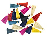 Akola Raffia Tassels in Assorted Colors 20 Pieces Total