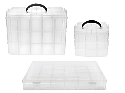 3 Piece Organizer Set with Adjustable Compartments