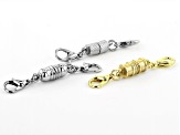 Magnetic Clasp Set of 6 in Silver Tone & Gold Tone with Lobster Style Clasps