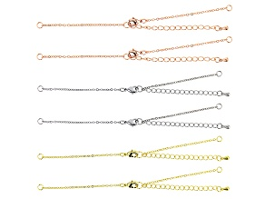Bracelet Finding Set of 6 in Silver Tone, Gold Tone, and Rose Gold Tone Appx 4