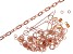 Vintaj Jewelry Findings Kit in 10k Rose Gold Over Brass Includes Chain, Clasps, Jump Rings and More