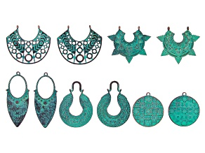 Patina Focal Kit in 5 Designs 10 Pieces Total