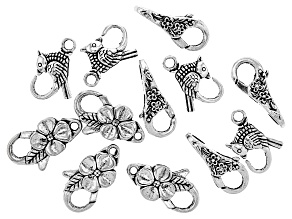 Designer Lobster Style Clasp in 3 Styles in Antiqued Silver Tone Set of 12