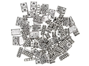 Multi Row Spacer Kit in 3 Styles in Antiqued Silver Tone Appx 120 Pieces Total