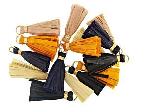 Akola Raffia Tassels in Assorted Neutral Colors Set of 15