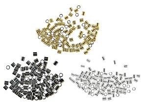 Soft Flex Crimp Tubes in Gold Filled, Sterling Silver Filled, and Oxidized Sterling Silver