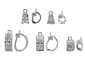 Magnetic Enhancer Bail Kit in 5 Designs in Silver Tone 10 Pieces Total