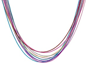 """Multi Color Unfinished Bead Chain in 10 Colors Appx 300"""" Total with Jump Rings"""
