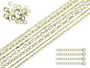 Fancy Unfinished Chain in 7 Styles in Gold Tone Appx 130