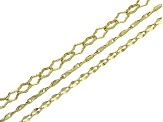 "Fancy Unfinished Chain in 7 Styles in Gold Tone Appx 130"" Total with Findings and Chain Extenders"