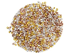 Faceted Rondelle Appx 3x2mm Spacer Beads in Silver Tone, Gold Tone, and Rose Tone Appx 1000 Pieces