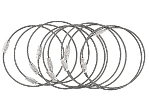 """Stainless Steel 7"""" Bracelet Foundations with Screw Clasp Set of 10"""