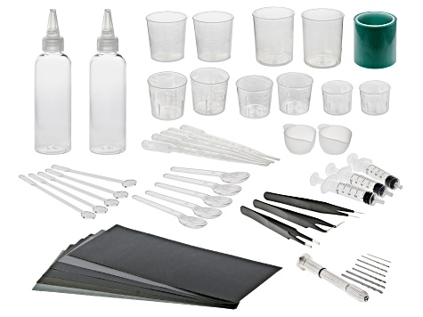 Silicone Starter Tool Kit for Resin Projects 49 Pieces Total