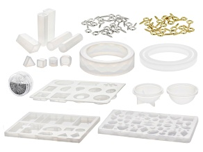 Silicone Mold and Finding Starter Kit for Resin 58 Pieces Total