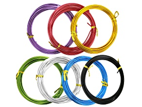 12 Gauge Aluminum Round Wire in 7 Colors Appx 35 Meters Total