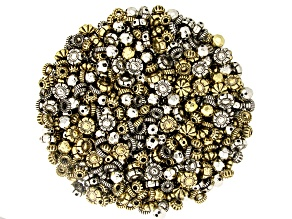 Electroform Large Hole Beads in 5 Styles in 2 Tones Appx 1000 Pieces Total