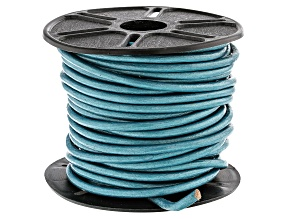 Round Leather Cord in Truly Teal Appx 1.5mm in Diameter Appx 10m in length