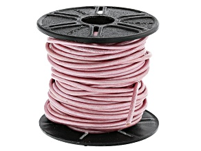Round Leather Cord in Mystic Pink Appx 1.5mm in Diameter Appx 10m in length