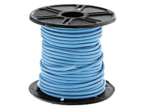 Round Leather Cord in Sky Blue Appx 1.5mm in Diameter Appx 10m in length