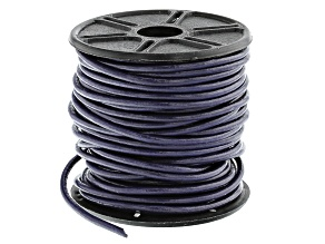 Round Leather Cord in Violet Appx 2mm in Diameter Appx 10m in length