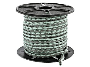 Round Cotton Bolo Cord in Sea Foam and Gray Appx 3mm in Diameter Appx 10m in length