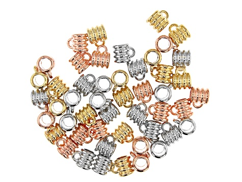 Large Hole Slide Bail Kit in Silver Tone, Gold Tone, and Rose Gold Tone Appx 50 Pieces Total