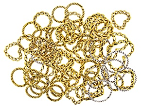 Twisted Rope Design Connector Rings in 7 Styles in Antiqued Silver and Antiqued Gold Tones