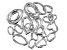 Fancy Spring Ring Clasp Set of 20 in Silver Tone in Assorted Shapes and Sizes