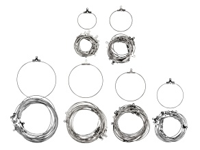 Focal Foundation Kit in 6 Sizes in Silver Tone Appx 120 Pieces Total