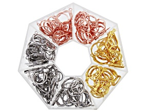 Brass Lever Back Ear Wire Kit in Silver Tone, Gold Tone, and Rose Gold Tone Appx 120 Pieces Total
