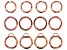 Large Spring Ring Clasp Kit in Rose Gold Tone in 3 Styles 12 Pieces Total