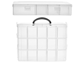 2 Pieces Storage Organizer Kit with Adjustable Compartments
