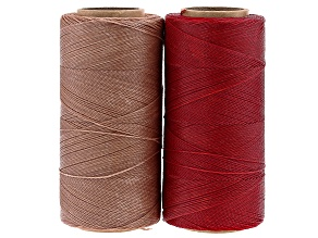 Wax Cord Appx 0.5mm Kit in Red and Sand Appx 720 Yards Total