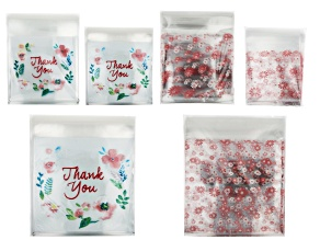 Plastic Gift Bag Kit of 600 Pieces in 2 Designs & 3 Sizes