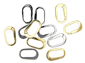 Spring Clasp Kit in Silver Tone and Gold Tone Appx 12 Pieces