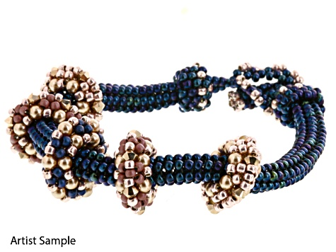 Satellites Bracelet Supply Kit - Blue/Rose Gold includes Tutorial