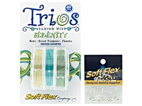 Serenity Trio Kit incl Colored Wire, Silver Filled Ear Wires, Crimp Tubes, And Lobster Clasps
