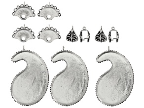 Sizzix™ Findings Refill Kit incl Bezel, Pinch Bail, And Bracelet Clasp Connectors