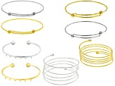Bracelet Base Kit Set Of 8 Pcs in Assorted Styles incl Gold Tone And Silver Tone