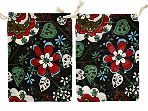 Jewelry Pouch Set Of 20 Printed Canvas Pouches