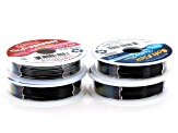 Soft Touch Wire Kit incl 7, 21 & 49 Strand in .010, .014, .019 & .024 Diameter in Black 40 ft Total