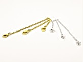 Chain Extender Kit Silver & Gold Tone Includes Extenders & Magnetic Clasps 14 pieces in Each Tone