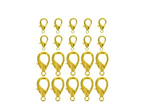 Lobster Claw Clasp 20 Piece Set in Gold Tone incl 9x18mm And 16x32mm