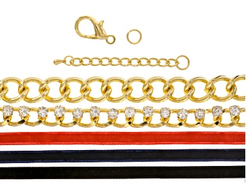 Picture of Heavy Chain & Crystal Link With Ribbon Supply And Project Kit With instructions