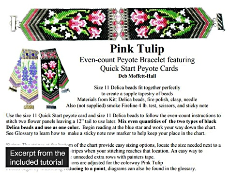 Quick Stitch Peyote Bead Project Kit in Pink Tulip