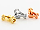 Hinge Clasp Kit in Gold Tone, Silver Tone & Rose Tone 5 Pairs Each / 15 Pairs Total